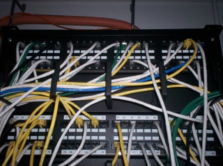 Top half of the patch panels
