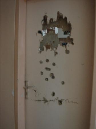 A dorm-room door