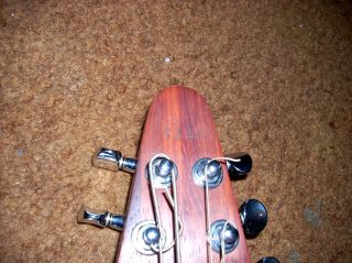 Original Headstock #5240, Padauk Grand Stick