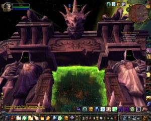 The Draenor side of the Dark Portal