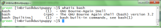 The Whatis entry for bash