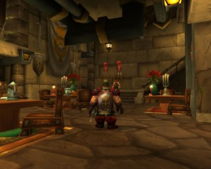 Flowers look out of place in a Dwarf tavern
