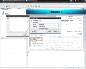 The database login dialog
