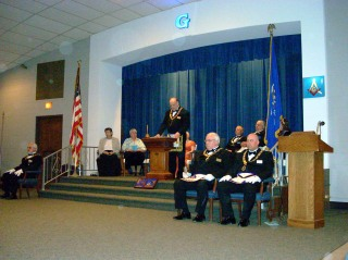 The Grand Master giving his Address