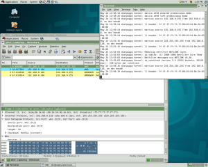 "The ""martian source"" errors line up with the WHO traffic in the Wireshark window"