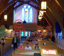 The choir organ