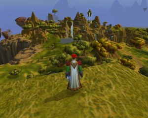 A wide shot of Nagrand from one of the floating rocks.
