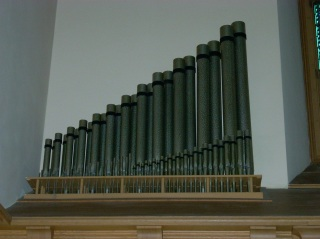 The Gedeckt 4 and Octavin 2 ranks of the Chancel Organ