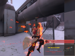 Medics maintain their professional demeanor even when engulfed in flames.