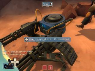 Nice shot of a level 2 sentry gun