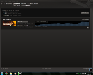 I have an 8Mbit connection.  On Steam, my transfer rates range from less than 128KB/s to 2.2 MB/s.  Uhh.. why?
