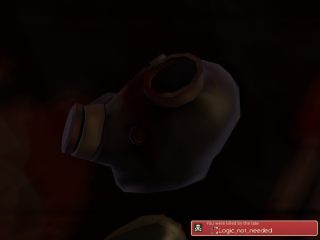 Detached Pyro head.  It's like art or something.