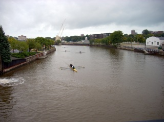 The Milwaukee River, looking North from the Cherry St. Bridge