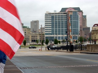 Sort of a nice shot of the northwest end of Downtown Milwaukee