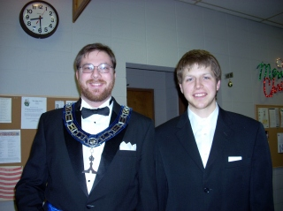 Joshua and Sean at the reception after installation