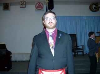 Me, after being installed as Royal Arch Captain