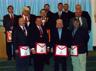 The officers of West Allis Chapter #84 R.A.M.