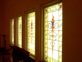 Every window in the place was stained glass