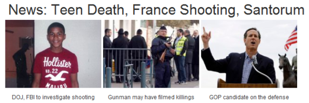 News:  Teen Death, France Shooting, Santorum