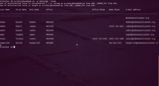 Running the GECOS phonebook from the command line