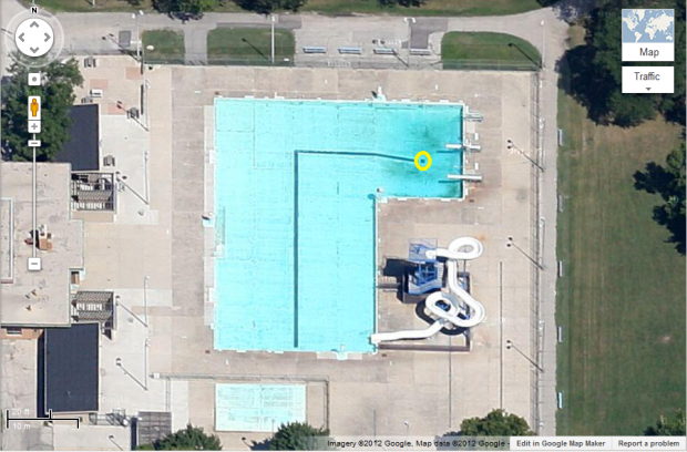 McCarty Park Pool (WTF grate circled in yellow)